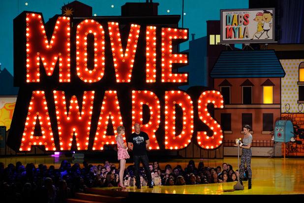 Momento de los MTV Movie Awards 2015.