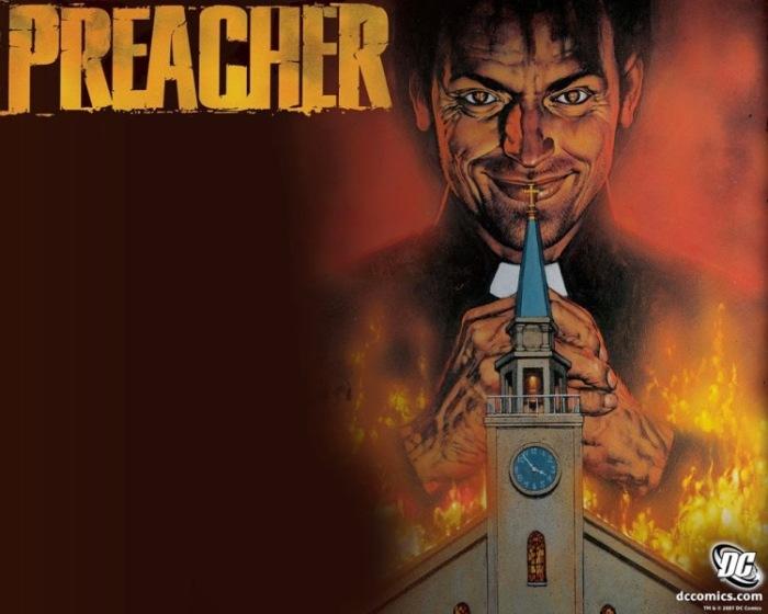 """Ilustración el libro de DC Comic """"Preacher""""."""