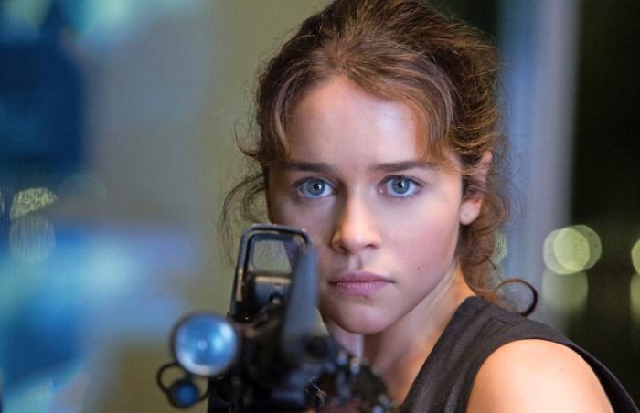 "Emilia Clarke como Sarah Connor en ""Terminator: Genisys""."