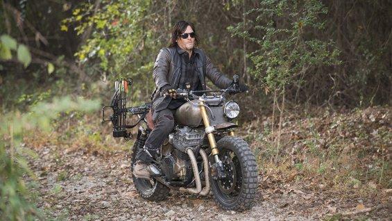 "Norman Reedus en el final de la 5ta. temporada de ""The Walking Dead""."