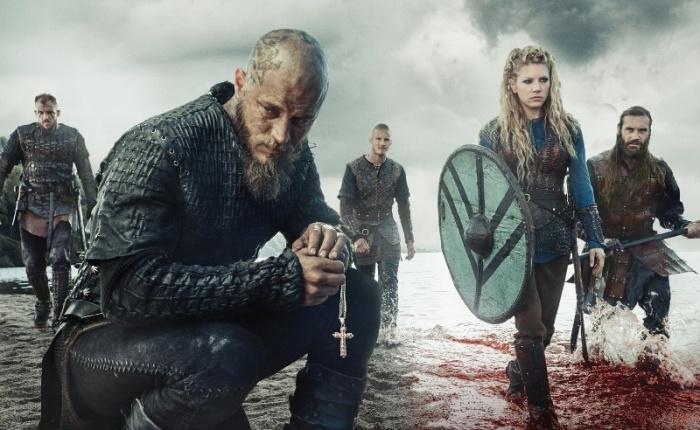 "Promocional de la 3ra. temporada de ""Vikings""."
