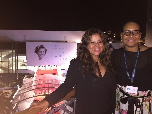 Cynthia Wiesner y Zumaya Cordero en el Cannes Film Festival 2015.