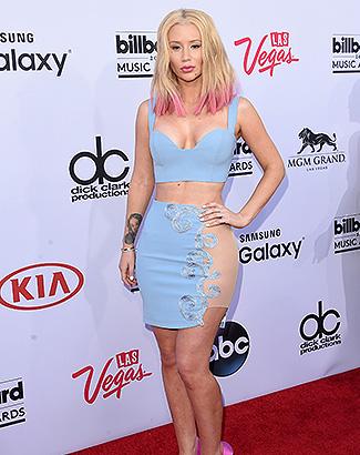 Iggy Azalea al llegar a los Billboard Music Awards 2015.