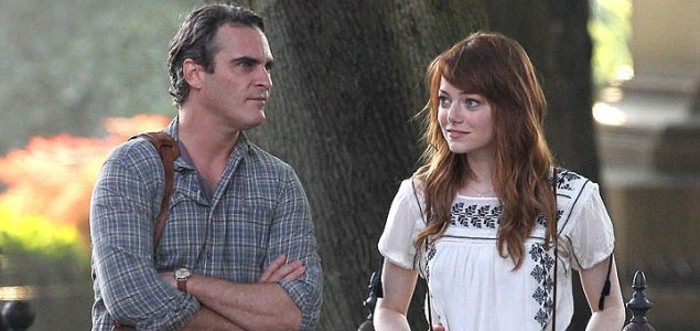 "Joaquin Phoenix y Emma Stone en la película de Woody Allen ""Irrational Man""."