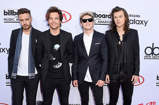Los integrantes de One Direction en la alfombra roja de los Billboard Music Awards 2015.