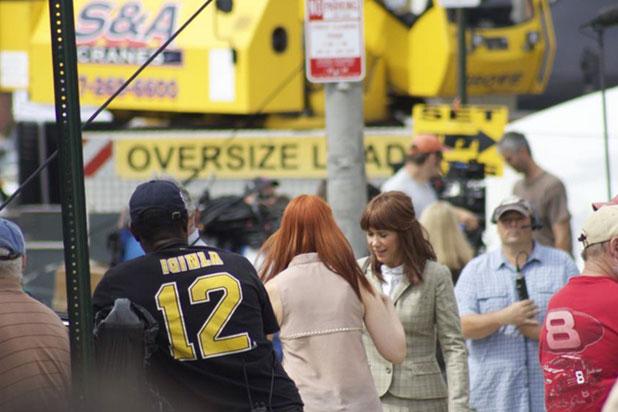 """Grabación de una escena de """"Ghostbusters"""" (2015). / Foto fuente> www.boston.com"""