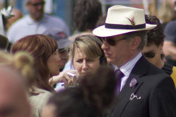 """Kristen Wiig y Paul Feig en la grabación de """"Ghostbusters"""". / Foto fuente: www.boston.com"""
