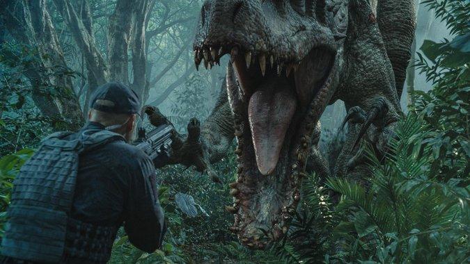 "Escena de ""Jurassic World""."