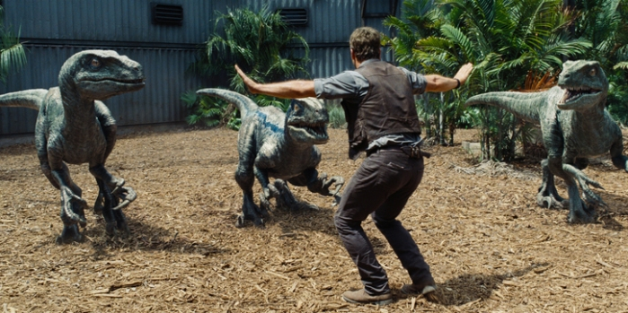 "Escena de ""Jurrasic World""."