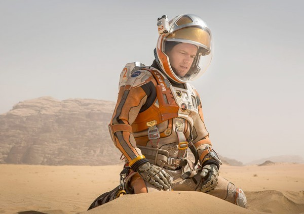 "Matt Damon en ""The Martian"". / Foto vía Twentieth Century Fox."