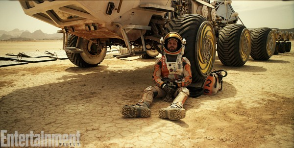 "Matt Damon en ""The Martian"". / Vía Entertainment Weekly – Twentieth Century Fox."