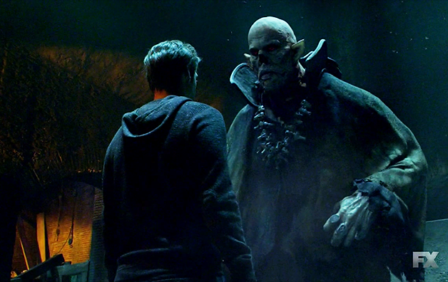 "The Master (Robert Maillet) y Ephraim Goodweather (Corey Stoll) en ""The Strain""."