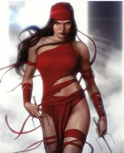 Ilustración de Elektra.