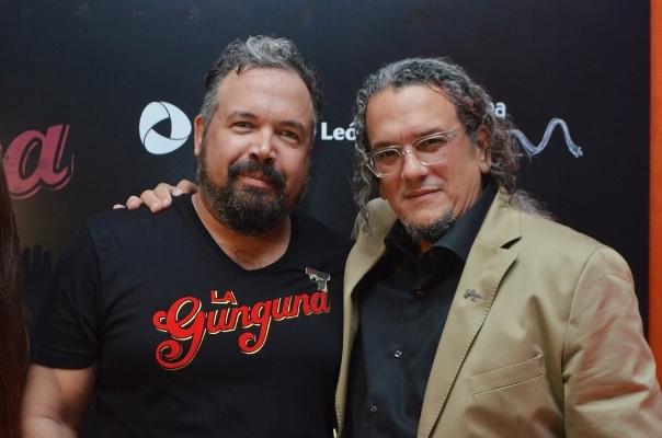"""Ernesto Alemany y Juan Basanta en la premier de """"La Gunguna""""."""