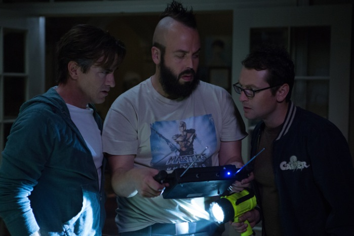 "Dermot Mulroney, Angus Sampson y Leigh Whannell en ""Insidious: Chapter 3″."
