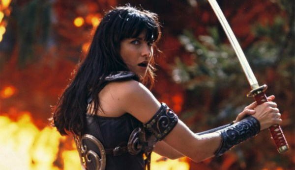 "Lucy Lawless en ""Xena: Warrior Princess""."