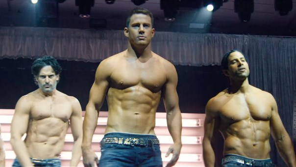"Joe Manganiello, Channing Tatum y Adam Rodriguez en ""Magic Mike XXL""."