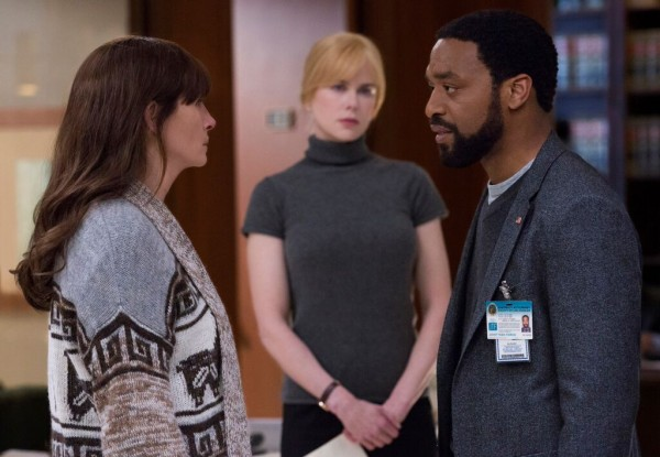 "Julia Roberts, Nicole Kidman y Chiwetel Ejiofor en ""Secret in Their Eyes""."