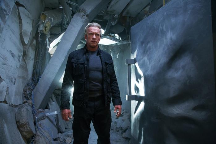 """Arnold Schwarzenegger es el Terminator protector en """"Terminator Genisys""""."""
