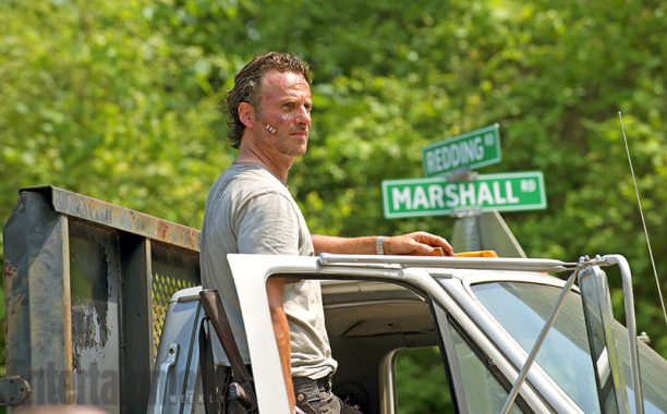 "Andrew Lincoln como Rick James en ""The Walking Dead"" (6ta. temporada)."