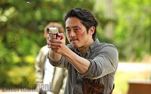 "Steven Yeun como Glenn Rhee en ""The Walking Dead"" (6ta. temporada)."