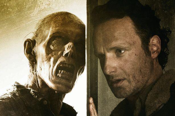 "Andrew Lincoln como Rick Grimes en un promocional de ""The Walking Dead"" (6ta. temporada)."