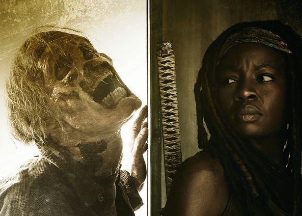 """Danai Gurira como Michonne en un promocional de """"The Walking Dead"""" (6ta, temporada)."""