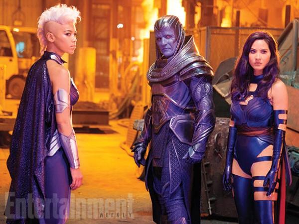 """Alexandra Shipp, Oscar Isaac y Olivia Munn en """"X-Men: Apocalypse""""."""