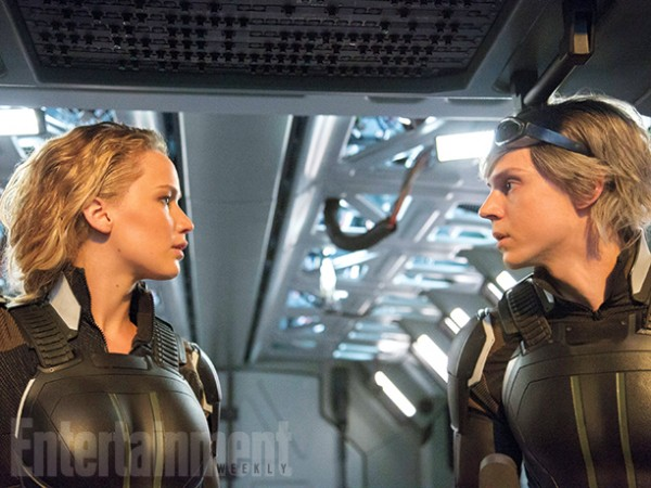 "Jennifer Lawrence y Evan Peters en ""X-Men: Apocalypse""."