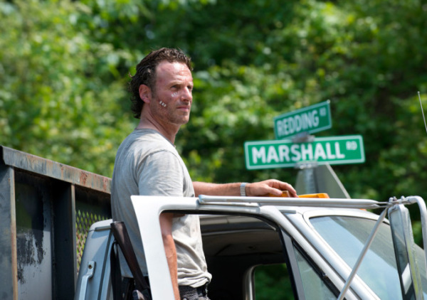 "Andrew Lincoln es Rick Grimes en ""The Walking Dead""."