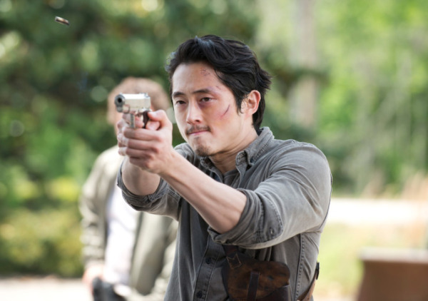 "Steven Yeun es Glenn Rhee en ""The Walking Dead""."