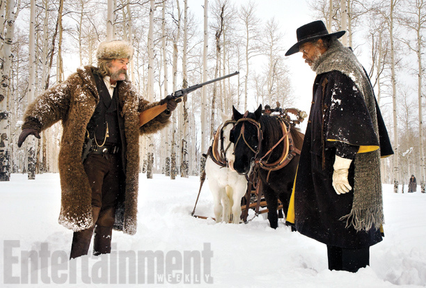 "Kurt Russell y Samuel L. Jackson en ""The Hateful Eight""."