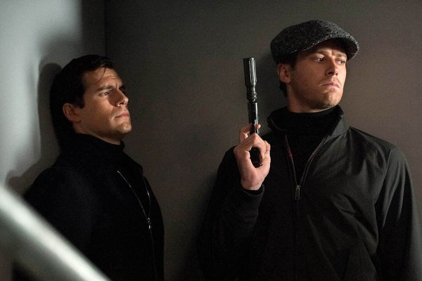 "Armie Hammer y Henry Cavill en ""The Man From U.N.C.L.E.""."