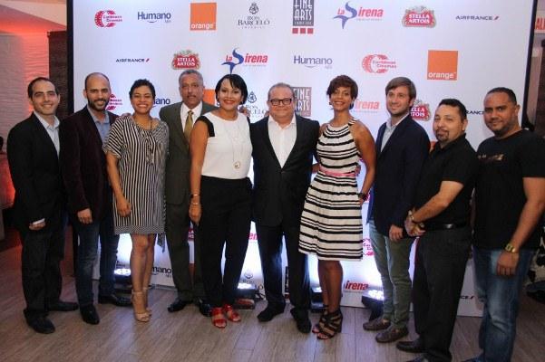 Miembros del jurado y representantes del 6to. Festival Internacional de Cine Fine Arts.