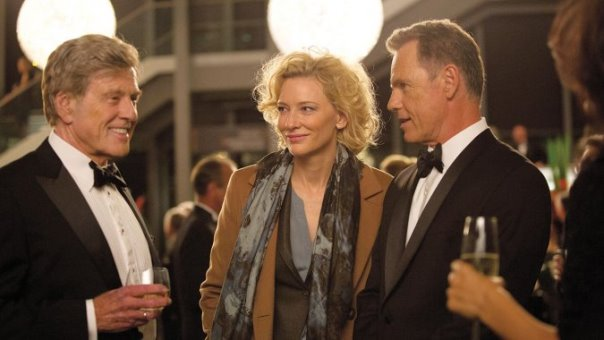 "Robert Redford, Cate Blanchett y Bruce Greenwood en ""Truth""."