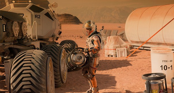 "Matt Damon es Mark Watney en ""The Martian""."
