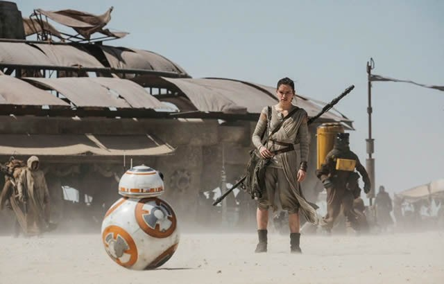 "Escena de ""Star Wars: The Forces Awakens""."
