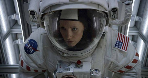 "Jessica Chastain es Melissa Lewis en ""The Martian""."