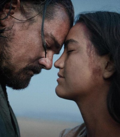 "Grace Dove Syme y Leonardo Di Caprio en ""The Revenant""."