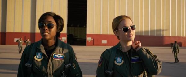 "Lashana Lynch y Brie Larson en ""Captain Marvel"" (2019). / Imagen via Marvel Studios"